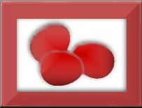 3 red eggs button for Greek Easter Eggs Christian background set