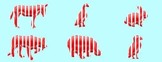 peppermint candy animals tube 6