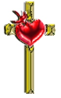 AmeriYank's gold cross with ruby heart tube