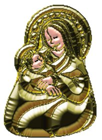 madonna and child gold tube