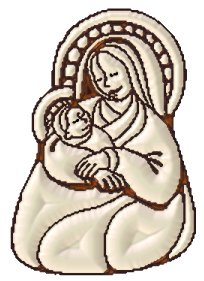 madonna and child white chocolate tube