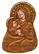 madonna and child wood tube